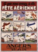 Vintage French poster -  Air Show Angers-Avrille (1929)